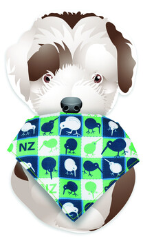 Dog Bandana Kiwi Green Navy