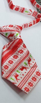 Christmas Neck Tie Red Reindeer