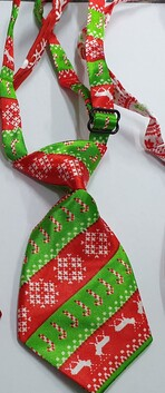 Xmas Neck Tie Deer and Candy Cane